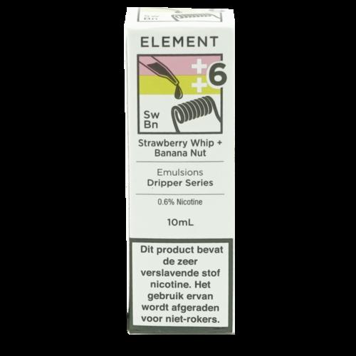 Strawberry Whip + Banana Nut - Element e-Liquids EMULSIONS Dripper