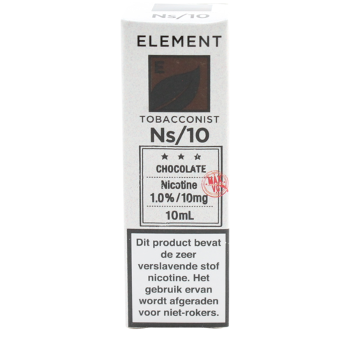 Chocolate Tobacco (Nic Salt) - Element e-Liquids