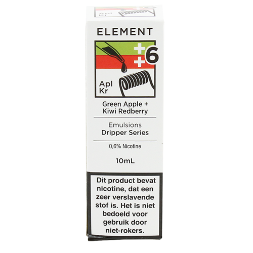 Green Apple + Kiwi Redberry (MHD) - Element e-Liquids EMULSIONS Dripper