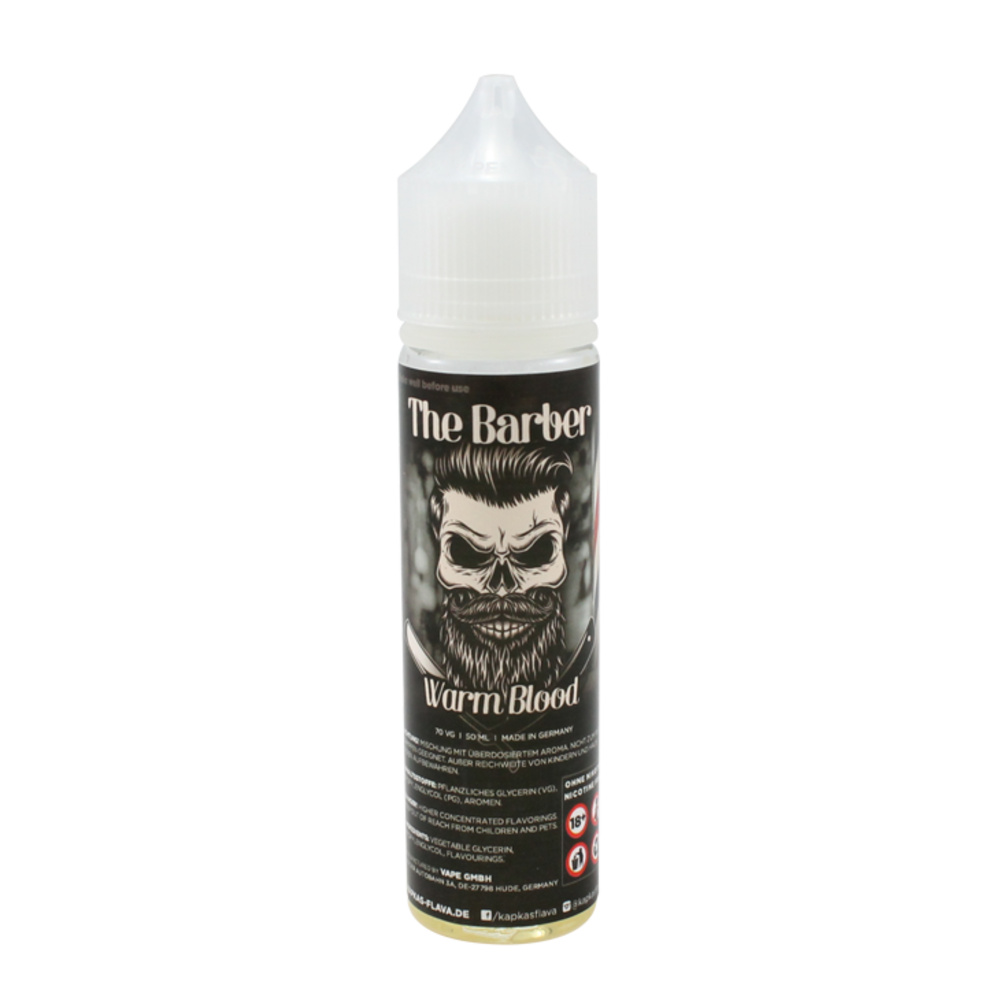 Warm Blood - The Barber (Shortfill) (Shake & Vape 50ml)